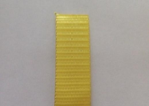 Стрічка текстильна для буксировочних ременів, ширина 25 мм, 0,9 т, жовта