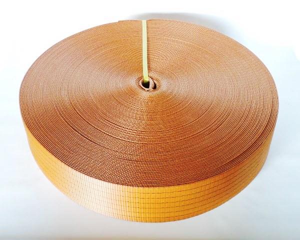 Стрічка текстильна для буксировочних ременів, ширина 75 мм, 7,5 т, помаранчева