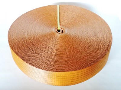 Лента текстильная для буксировочных ремней, ширина 75 мм, 7,5 т, оранжевая